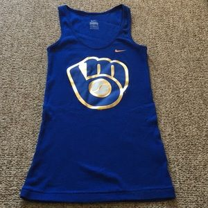 Nike Brewers ribbed racerback tank size small ⚾️